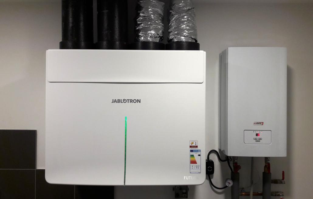 Rekuperační jednotka Jablotron Futura s entalpickým výměníkem